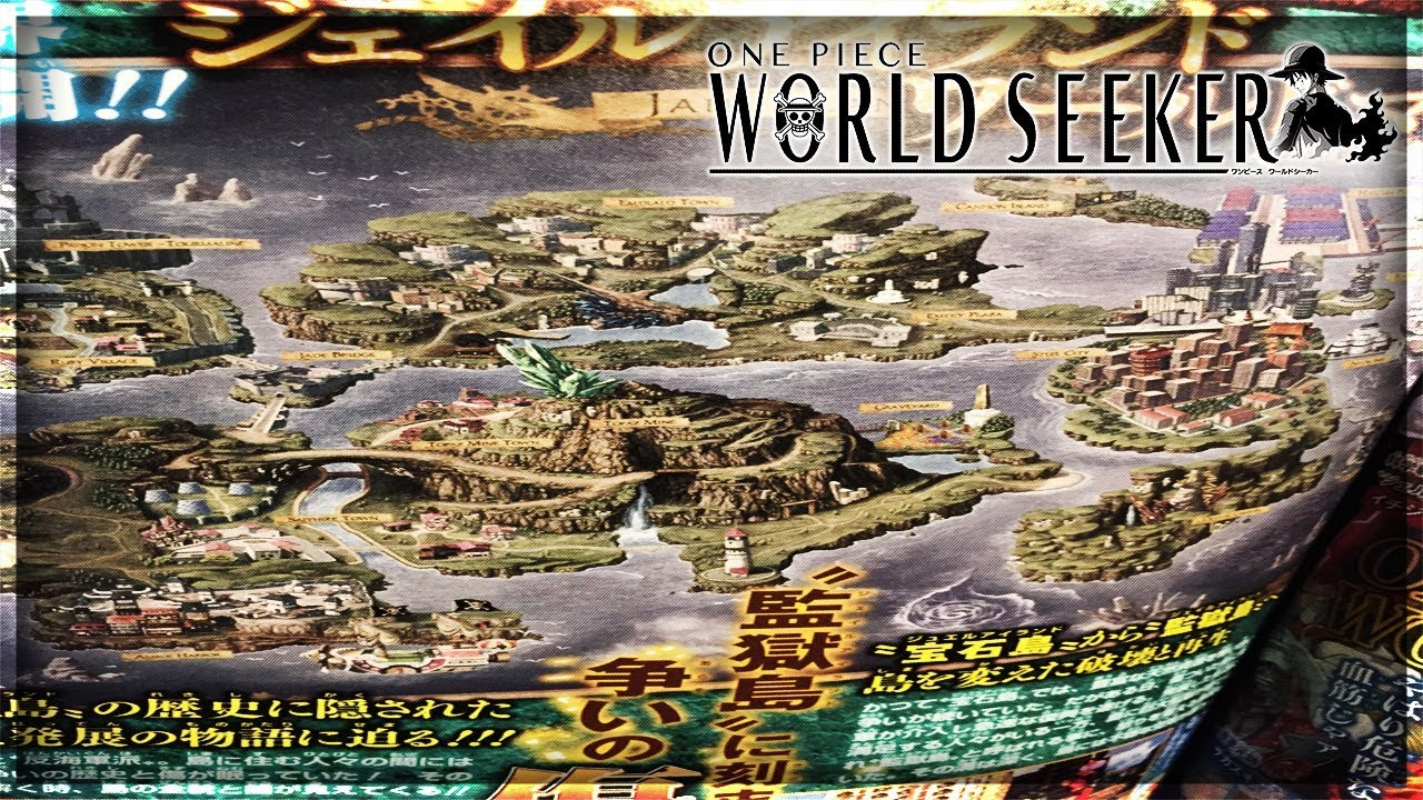 ONE PIECE WORLD SEEKER MAP SCAN! THE MAP IS HUGE! I\'M READY!