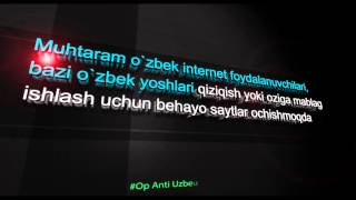 #Op Anti Uzbek Porn Web Sites