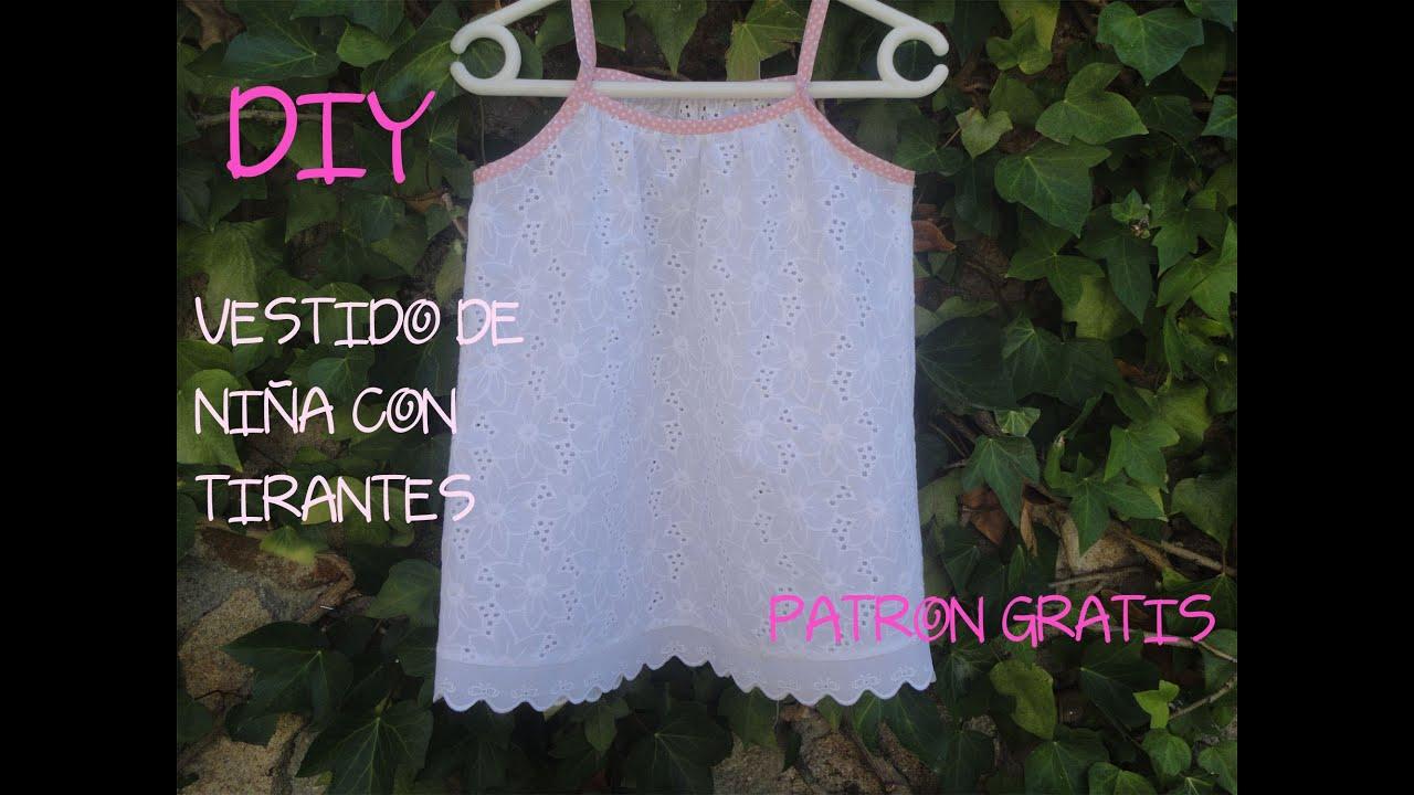 Diy costura para ropa de niña, muy fácil. Patrón gratis del vestido ...