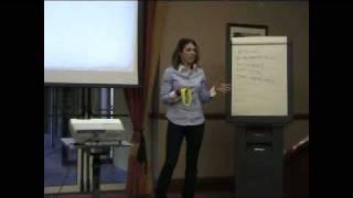 Anna Aparicio IINLP/Hypnosis Life Coach speaking at