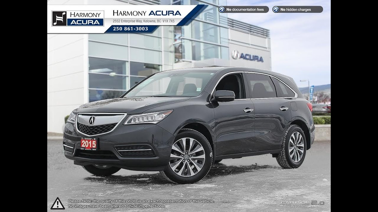 Acura MDX Navi Harmony Acura Grey AU Kelowna BC - Harmony acura