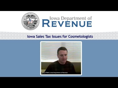 Iowa Sales Tax Issues for Cosmetologists | Terry O'Neill