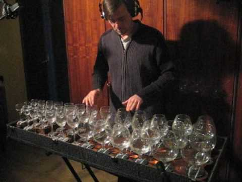 moonlight sonata on glass harp