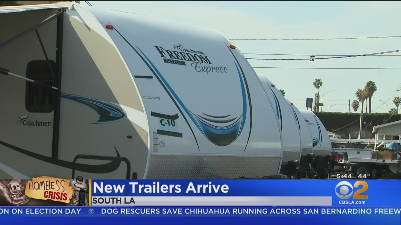 Download Camp Fire Trailers Now Housing Homeless Families In South LA