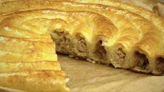 Пирог 'Спиральный' из творожного теста. Простой домашний рецепт.