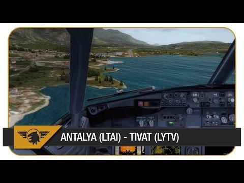 [Prepar3D] | PMDG NGX | SXD5422 | Sun Express | Antalya (LTAI) - Tivat (LYTV) | Challenging Approach