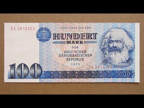 100 east german mark banknote hundred east german mark. Black Bedroom Furniture Sets. Home Design Ideas