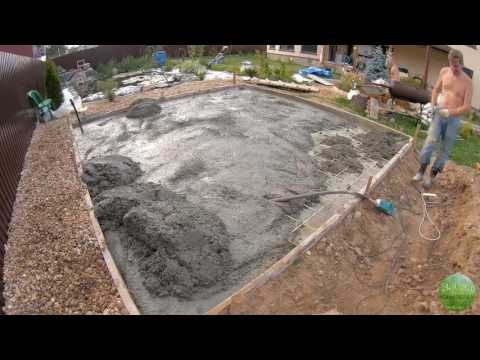 Беседка с печным комплексом своими руками. Часть 3: заливка бетоном