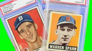 Baseball Card Collection Topps Mickey Mantle Spahn ROOKIE Gehrig And Many More