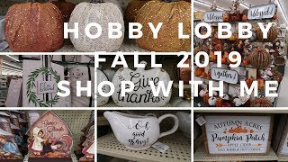 FALL HOBBY LOBBY SHOP WITH ME | 2019