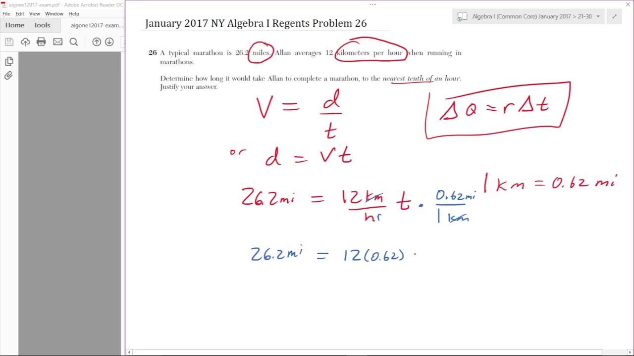 problem 26 january 2017 algebra i common core regents. Black Bedroom Furniture Sets. Home Design Ideas