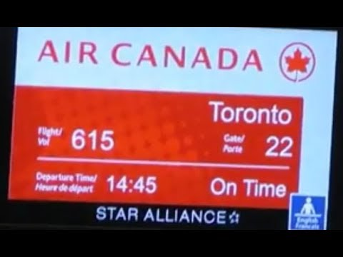 AIR CANADA Flight Halifax To Toronto Sep 2017