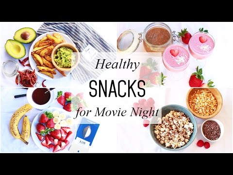 Healthier Snack Swaps in the Movies Infographic