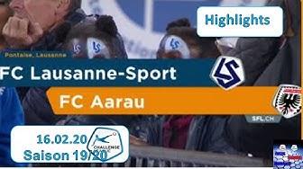 Highlights: FC Lausanne - Sport vs FC Aarau (16.02.2020)