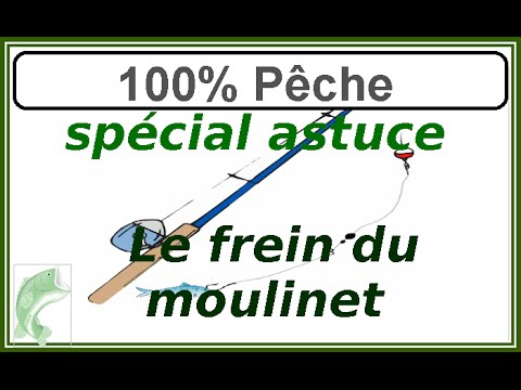 Frein du moulinet (utilisation et réglage)