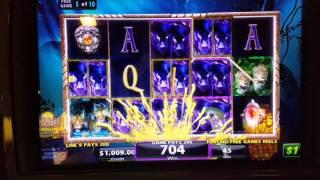 Shadow of the Panther slot bonus jackpot handpay high limit $45 max bet