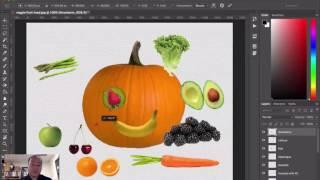 Photoshop Layers - Veggie Head Activity