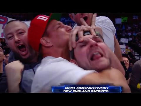Gronk Puts Friend in the Sleeper Hold on WWE Smackdown