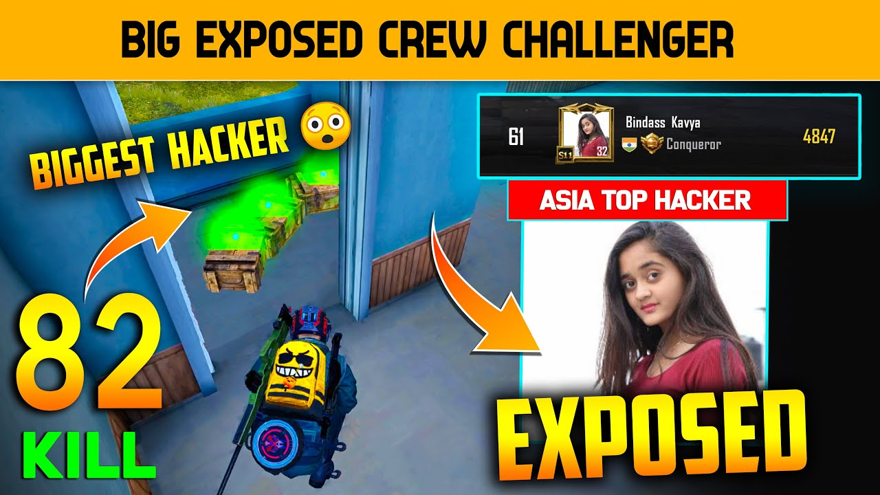 ? 82 Kills Asia Top Hacker Exposed And Crew Challenge Biggest Hacker Exposed | Hacker Girls Expose