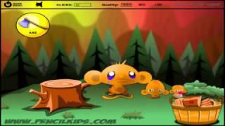 Monkey GO Happy 3 Video Walkthrough Flash Game Pencilkids