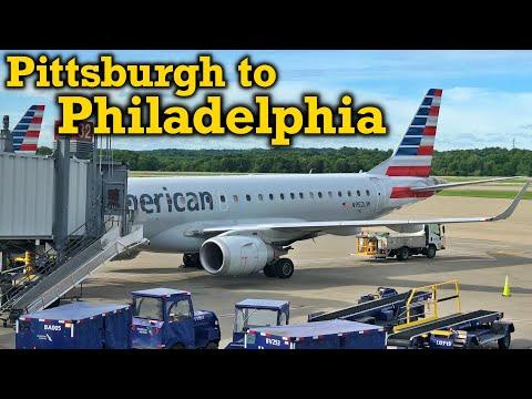 Full Flight: American Airlines E190 Pittsburgh To Philadelphia (PIT-PHL)