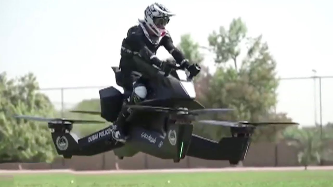 Flying Motorbike Dubai S Police Force Takes To The Skies Youtube