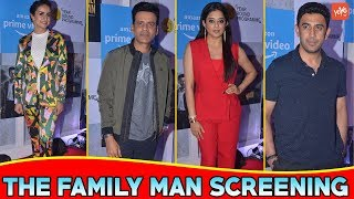 Manoj Bajpayee,Gul Panag,Priyamani And Other Co-stars Poses For Click Of At Launch 'The Family Man'