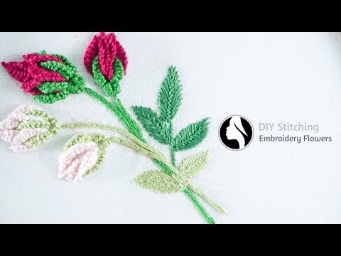 Hand Embroidery Flowers | cómo bordar flores (paso a paso) | by Diy Stitching - 14