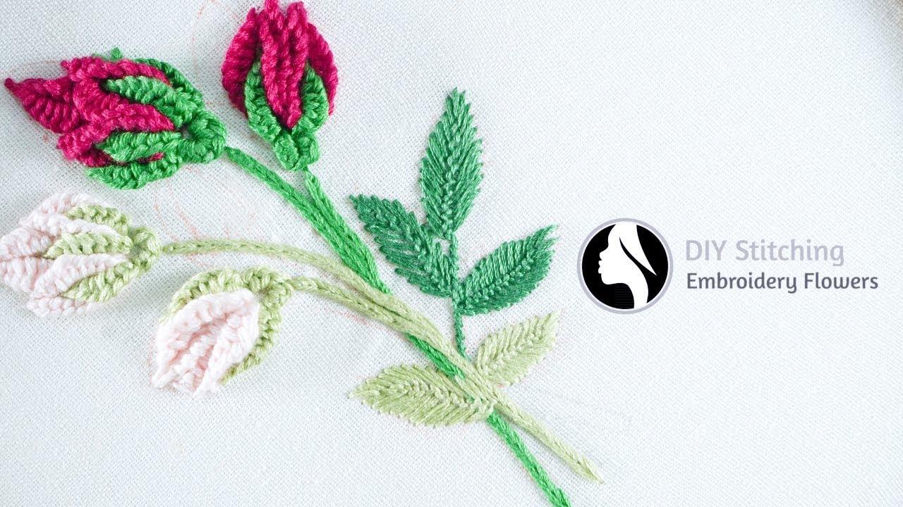 Hand embroidery flowers cómo bordar flores paso a