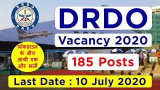 DRDO 185 Posts Recruitment 2020 | DRDO Vacancy 2020 | RAC Recruitment 2020 | DRDO RAC Vacancy 2020