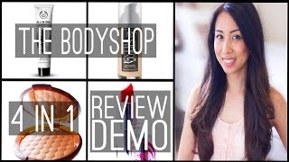 The Bodyshop 4in1 Review and Demo | including Instablur & Honey bronzer | Withlesleyx