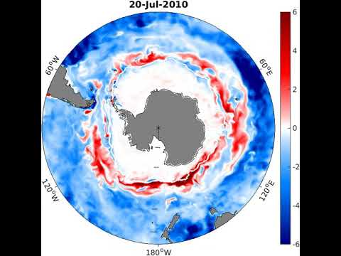 Simulated carbon flux from the Southern Ocean to the atmosphere