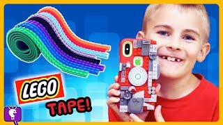 5 COOL IDEAS For LEGO TAPE! Cell Phone MakeOver Toy Review and Play with HobbyFrog by HobbyKidsTV