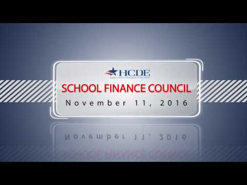 School FInance Council - November 11, 2016