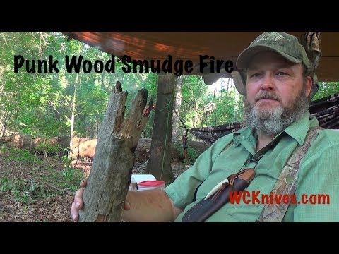 Testing a Punk Wood Smudge Fire