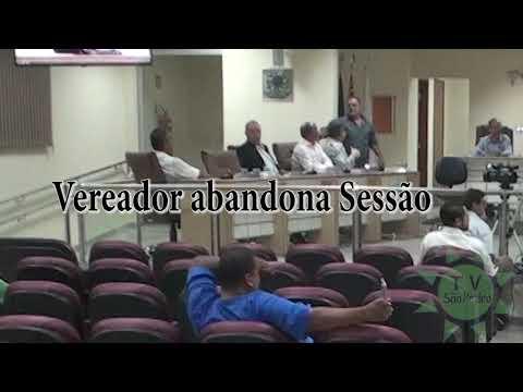 Vereador abandona sessao TV Sao Pedro