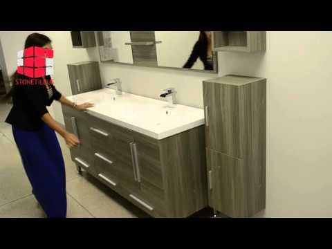 67″ Double Modern Bathroom Black Vanity AVS-8063