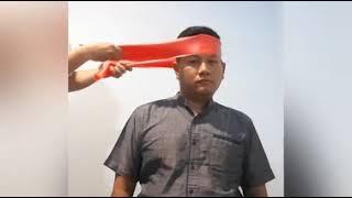 Salah satu akibat dari penyakit ND adalah kepala ayam menjadi tengeng atau miring. Barokah Farm Chan.