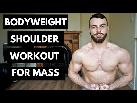 Bodyweight Shoulder Workout At Home - No Equipment Needed