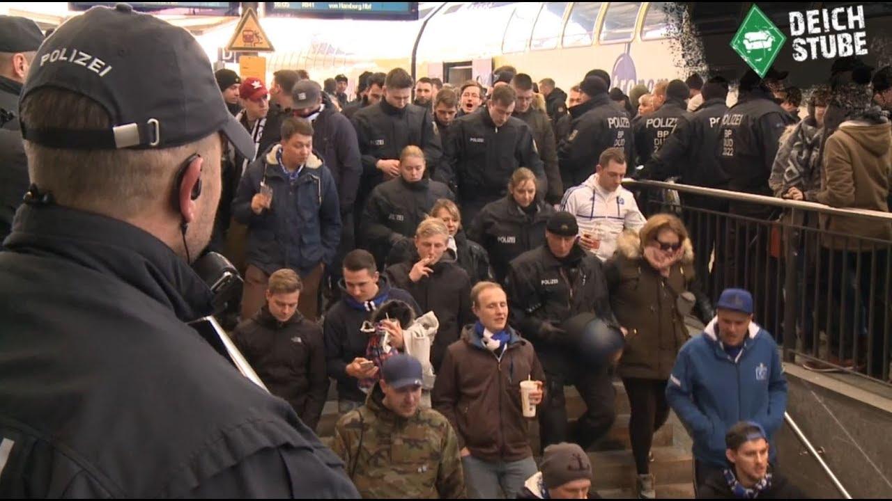 Vor dem Nordderby: Polizei begleitet Anreise der HSV-Fans
