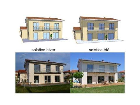 Casquette d'une maison par rapport à l'exposition du soleil : architecture passive/bioclimatique