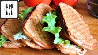 ТОСТ /сэндвич/ с сыром и помидором на завтрак. Горячий бутерброд с сыром. Турецкий завтрак
