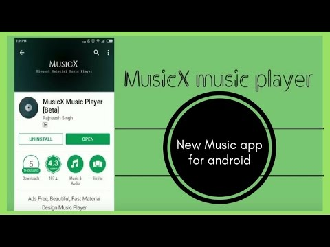 Cool new music app for Android-MusicX