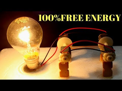 Free Energy Light Bulbs 230v - using 4 Dc Motor - 100% Free Energy Light Bulbs 230v