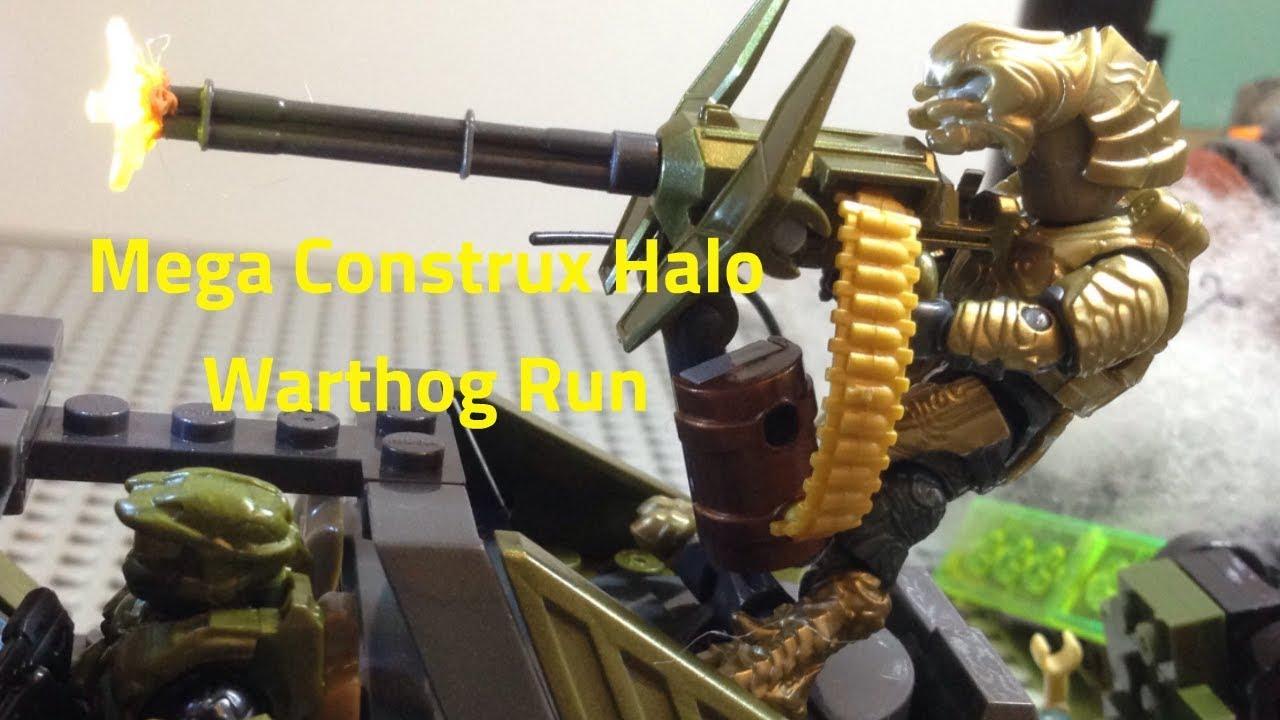 Mega Construx Halo Warthog Run stopmotion review