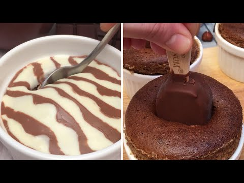 Melting Chocolate Cake for All🍫! Zebra Dessert🦓 Magic Brownies ✨Chocolate & Banana Cakes🍌