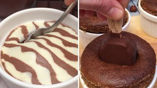 Melting Chocolate Cake for All🍫! Zebra Dessert🦓 Magic Brownies ✨Chocolate & Banana Cakes🍌