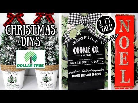 DIY DOLLAR TREE CHRISTMAS DECOR | FARMHOUSE HOLIDAY IDEAS