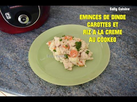 ÉmincÉs-de-dinde-carottes-et-riz-a-la-crÈme-au-cookeo-|-sally-cuisine-{episode-44}