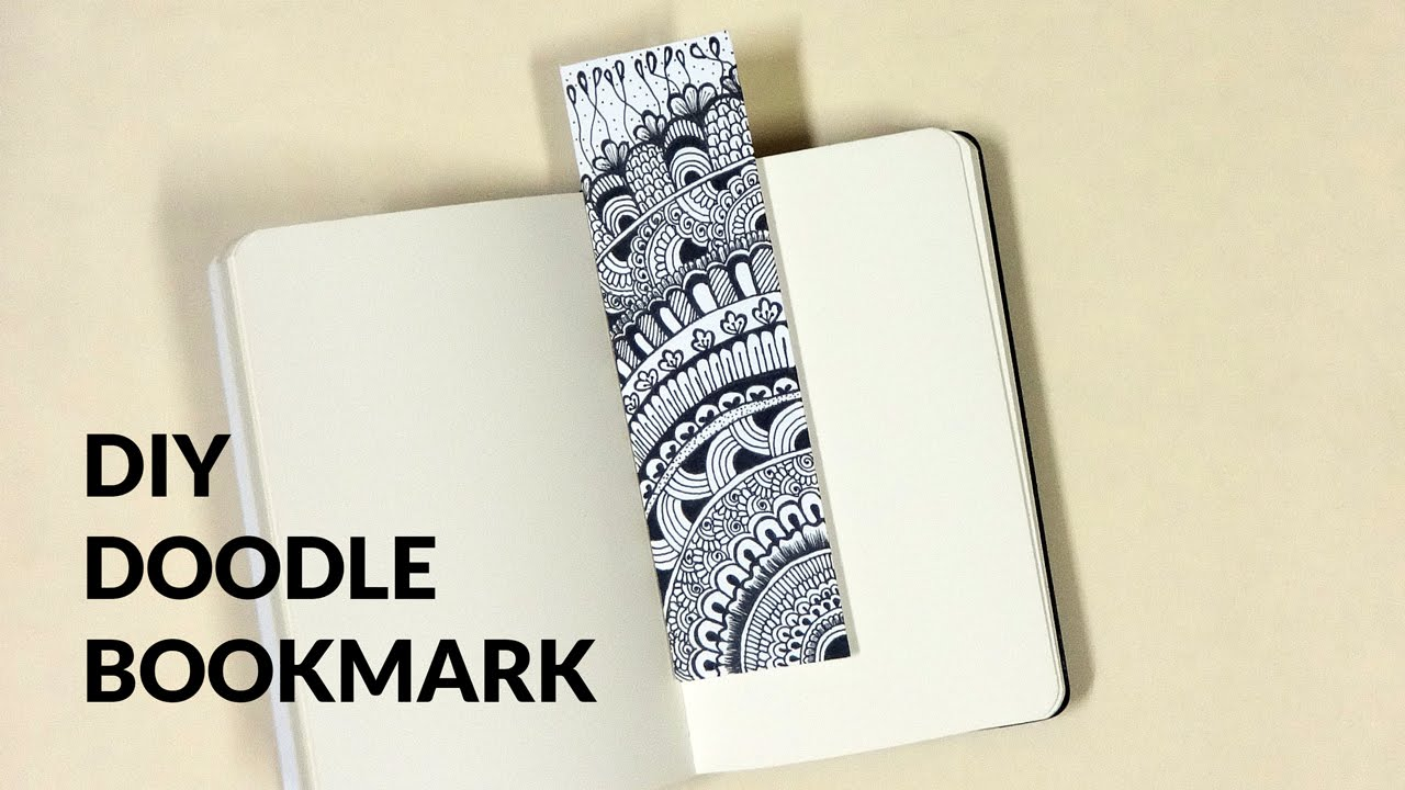 Diy Doodle Bookmark Youtube